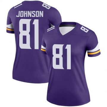Women's Nike Minnesota Vikings Olabisi Johnson Purple Jersey - Legend