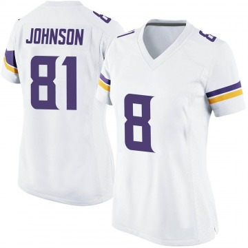 Women's Nike Minnesota Vikings Olabisi Johnson White Jersey - Game