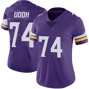 Women's Nike Minnesota Vikings Olisaemeka Udoh Purple 100th Vapor Jersey - Limited