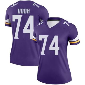Women's Nike Minnesota Vikings Olisaemeka Udoh Purple Jersey - Legend