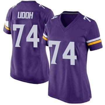 Women's Nike Minnesota Vikings Olisaemeka Udoh Purple Team Color Jersey - Game