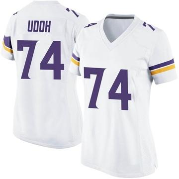 Women's Nike Minnesota Vikings Olisaemeka Udoh White Jersey - Game