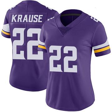 Women's Nike Minnesota Vikings Paul Krause Purple 100th Vapor Jersey - Limited