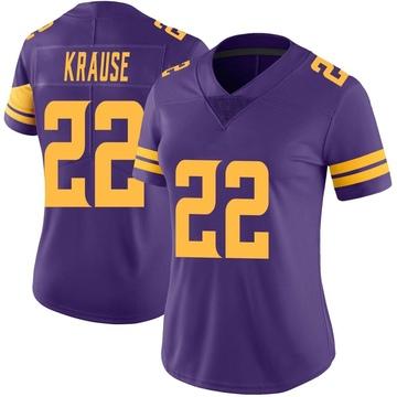 Women's Nike Minnesota Vikings Paul Krause Purple Color Rush Jersey - Limited