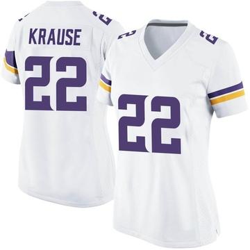 Women's Nike Minnesota Vikings Paul Krause White Jersey - Game