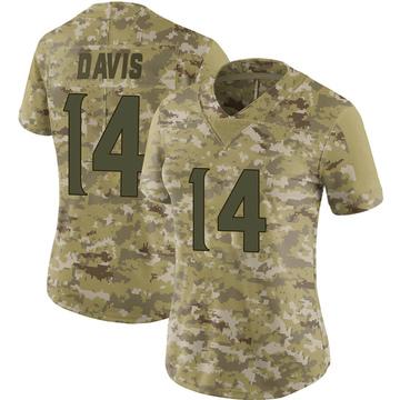 Women's Nike Minnesota Vikings Quartney Davis Camo 2018 Salute to Service Jersey - Limited