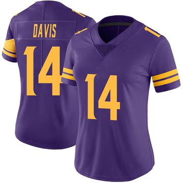 Women's Nike Minnesota Vikings Quartney Davis Purple Color Rush Jersey - Limited