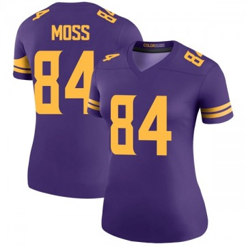 Women's Nike Minnesota Vikings Randy Moss Purple Color Rush Jersey - Legend