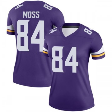 Women's Nike Minnesota Vikings Randy Moss Purple Jersey - Legend