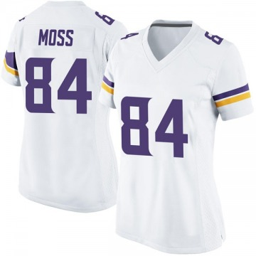 Women's Nike Minnesota Vikings Randy Moss White Jersey - Game