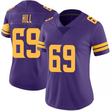 Women's Nike Minnesota Vikings Rashod Hill Purple Color Rush Jersey - Limited
