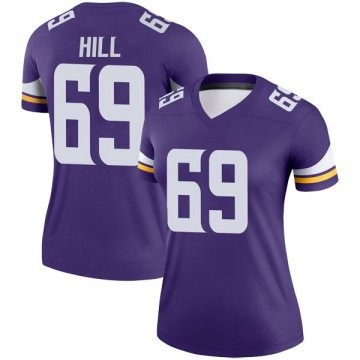 Women's Nike Minnesota Vikings Rashod Hill Purple Jersey - Legend