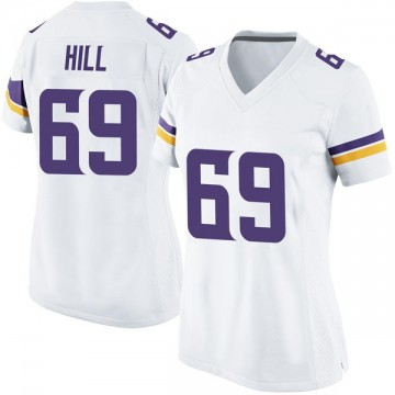 Women's Nike Minnesota Vikings Rashod Hill White Jersey - Game
