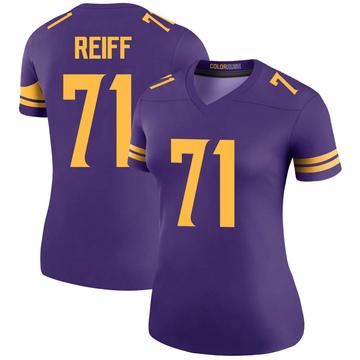 Women's Nike Minnesota Vikings Riley Reiff Purple Color Rush Jersey - Legend