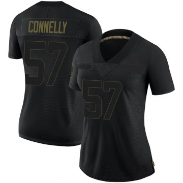 Women's Nike Minnesota Vikings Ryan Connelly Black 2020 Salute To Service Jersey - Limited