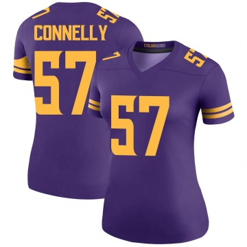 Women's Nike Minnesota Vikings Ryan Connelly Purple Color Rush Jersey - Legend
