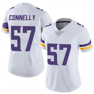 Women's Nike Minnesota Vikings Ryan Connelly White Vapor Untouchable Jersey - Limited