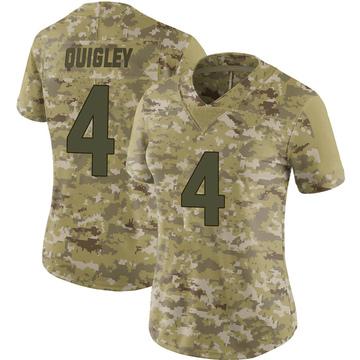 Women's Nike Minnesota Vikings Ryan Quigley Camo 2018 Salute to Service Jersey - Limited