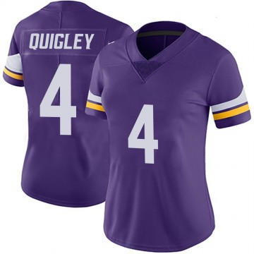 Women's Nike Minnesota Vikings Ryan Quigley Purple 100th Vapor Jersey - Limited