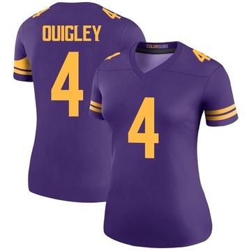 Women's Nike Minnesota Vikings Ryan Quigley Purple Color Rush Jersey - Legend