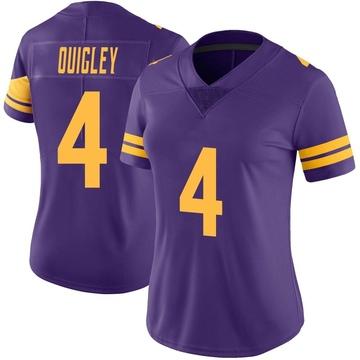 Women's Nike Minnesota Vikings Ryan Quigley Purple Color Rush Jersey - Limited
