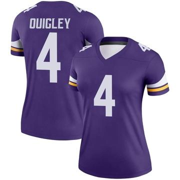 Women's Nike Minnesota Vikings Ryan Quigley Purple Jersey - Legend