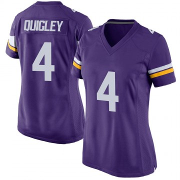 Women's Nike Minnesota Vikings Ryan Quigley Purple Team Color Jersey - Game