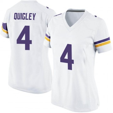 Women's Nike Minnesota Vikings Ryan Quigley White Jersey - Game