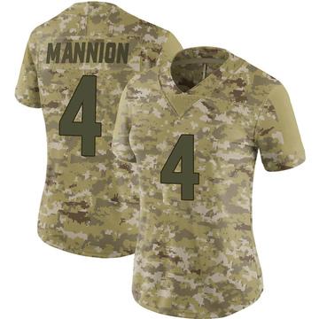 Women's Nike Minnesota Vikings Sean Mannion Camo 2018 Salute to Service Jersey - Limited