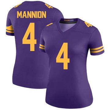 Women's Nike Minnesota Vikings Sean Mannion Purple Color Rush Jersey - Legend