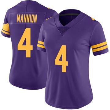 Women's Nike Minnesota Vikings Sean Mannion Purple Color Rush Jersey - Limited