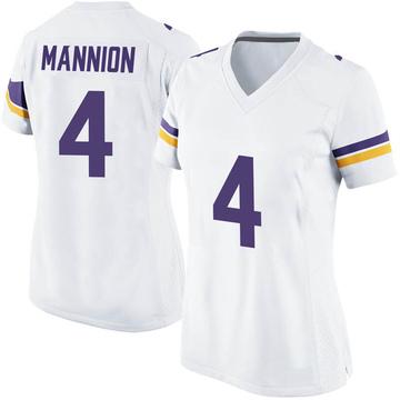 Women's Nike Minnesota Vikings Sean Mannion White Jersey - Game