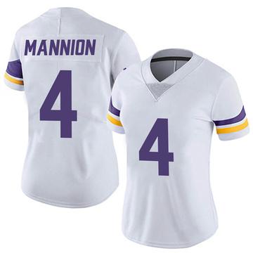 Women's Nike Minnesota Vikings Sean Mannion White Vapor Untouchable Jersey - Limited