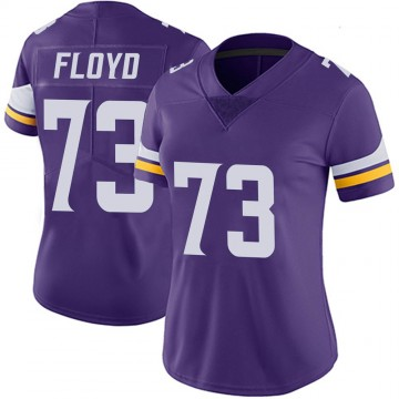 Women's Nike Minnesota Vikings Sharrif Floyd Purple 100th Vapor Jersey - Limited