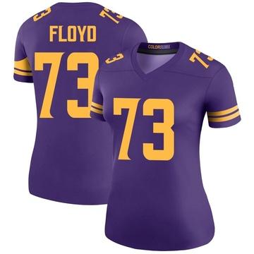 Women's Nike Minnesota Vikings Sharrif Floyd Purple Color Rush Jersey - Legend