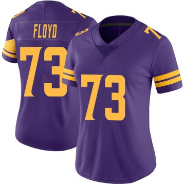 Women's Nike Minnesota Vikings Sharrif Floyd Purple Color Rush Jersey - Limited