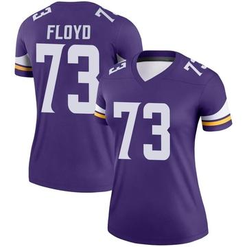 Women's Nike Minnesota Vikings Sharrif Floyd Purple Jersey - Legend