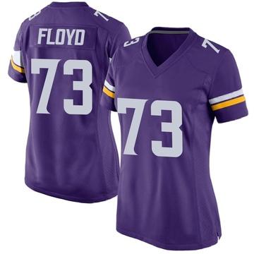 Women's Nike Minnesota Vikings Sharrif Floyd Purple Team Color Jersey - Game