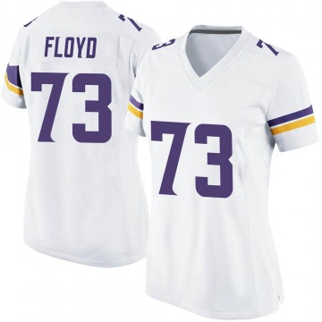 Women's Nike Minnesota Vikings Sharrif Floyd White Jersey - Game