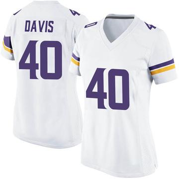 Women's Nike Minnesota Vikings Todd Davis White Jersey - Game
