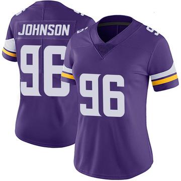 Women's Nike Minnesota Vikings Tom Johnson Purple 100th Vapor Jersey - Limited