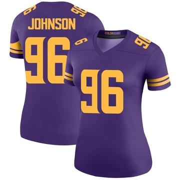 Women's Nike Minnesota Vikings Tom Johnson Purple Color Rush Jersey - Legend