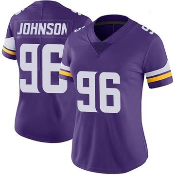 Women's Nike Minnesota Vikings Tom Johnson Purple Team Color Vapor Untouchable Jersey - Limited