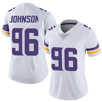 Women's Nike Minnesota Vikings Tom Johnson White Vapor Untouchable Jersey - Limited