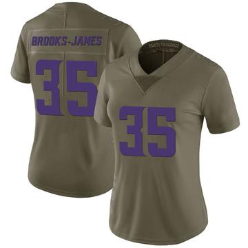Women's Nike Minnesota Vikings Tony Brooks-James Green 2017 Salute to Service Jersey - Limited
