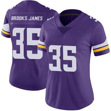 Women's Nike Minnesota Vikings Tony Brooks-James Purple 100th Vapor Jersey - Limited