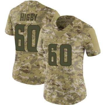 Women's Nike Minnesota Vikings Tyler Higby Camo 2018 Salute to Service Jersey - Limited