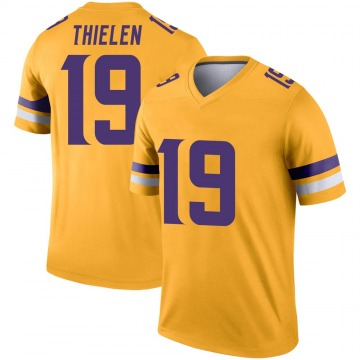 Youth Nike Minnesota Vikings Adam Thielen Gold Inverted Jersey - Legend