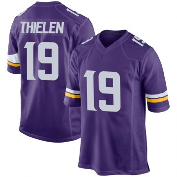 Youth Nike Minnesota Vikings Adam Thielen Purple Team Color Jersey - Game
