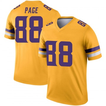 Youth Nike Minnesota Vikings Alan Page Gold Inverted Jersey - Legend